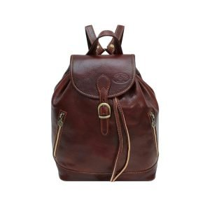 Brown Leather Backpack for Women - Artisanal Leather Backpack for Women Brown - Made in Italy Rucksack Leather