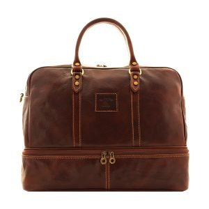 Leather travelling bag from florence. Made completely in italy by the best artisans.