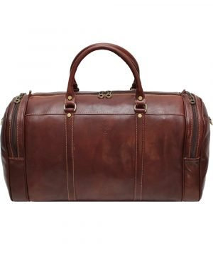 leather travel bag for long travel - Leather travel bag in real natural leather