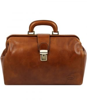 Fantini handcrafted leather doctor bag - doctor bags for sale