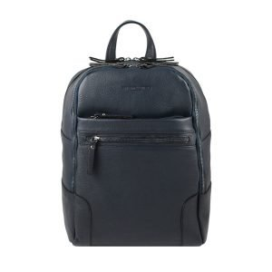 Blue leather backpack Fantini Pelletteria men's work backpack