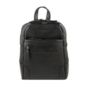 Black leather backpack for men Fantini Pelletteria