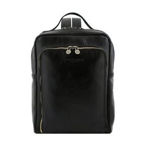 Unisex black leather backpack comfortable for work, for the office, for the laptop, for the university, but also for leisure. This black handcrafted leather backpack is 100% Made in Italy.