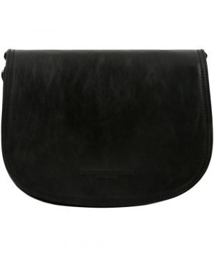 Black leather Tolfa Made in Italy.