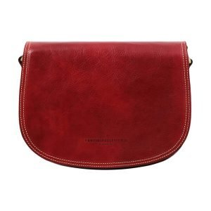 Tolfa Rossa in Leather Made in Italy.