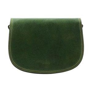 Green bag - green handbag - green leather bag - shoulder bag - postman bag