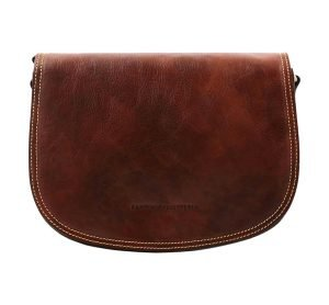 Tolfa in brown handmade leather.