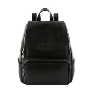 Black leather backpack - black leather backpack - leather backpack - black woman backpack