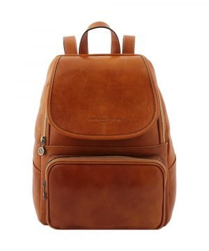 Leather backpack honey for woman - genuine leather backpack - Venezia leather backpack - leather backpack - Fantini leather goods