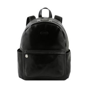 Tuscan Leather backpack Made in Italy- Leather backpack black unisex for your weekend- Black leather backpack for men