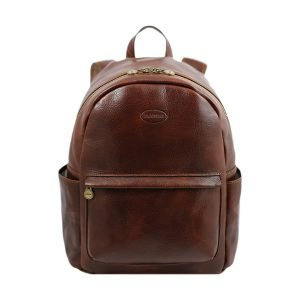 Leather Backpack Made in italy brown - Leather Backpack brown- Leather Backpack - Handmade Backpack Made in italy. Leather rucksack brown.