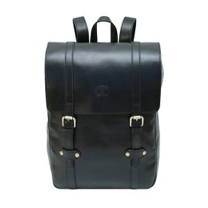 Black leather backpack Florence men's backpack in handmade leather Made in Italy