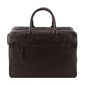 female leather briefcase brown