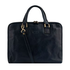 men's leather business briefcase made in italy