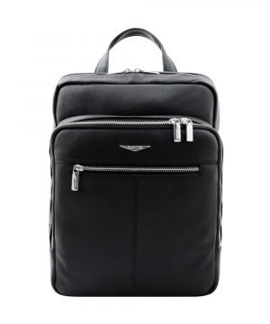 Fantini black backpack in handcrafted leather and Made in Italy