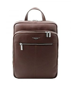 Fantini brown backpack in handmade leather and Made in Italy.