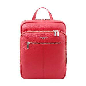 Fantini red backpack in handcrafted leather and Made in Italy.